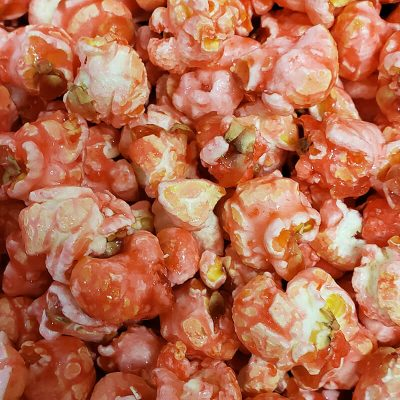 Pink cotton candy popcorn