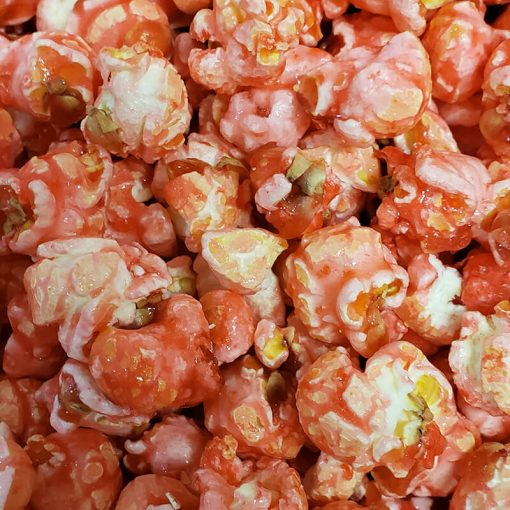 Pink cotton candy popcorn